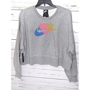 NWT Nike | Cross Stitched Logo Cropped Sweater